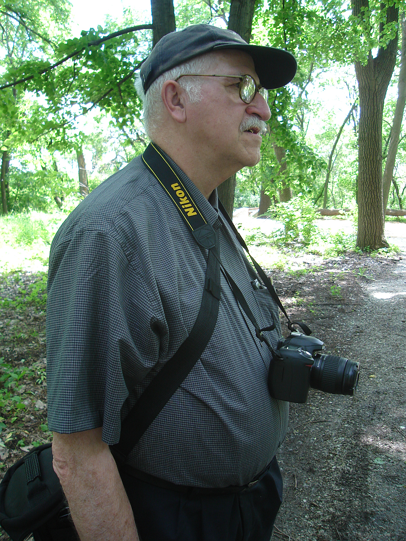 Phil Vierling in Portage Woods May 31, 2008