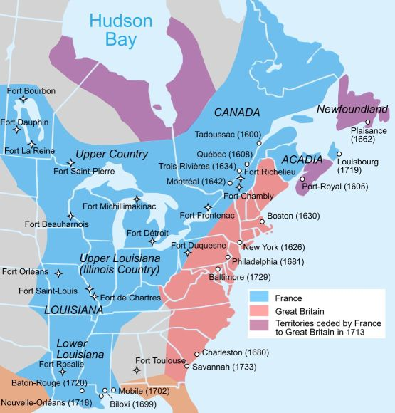 New France in 1750