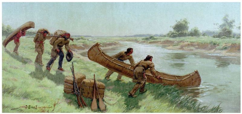 """The Chicago Portage"" by Edgar Spier Cameron"